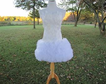 Feather flower girl dress, Flower Girl dress, Feather dress, pagent dress, pagent feather dress