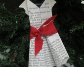 Les Miserables Dress Ornament, Origami