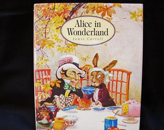 Vintage Book Alice in Wonderland Book, by Lewis Carroll Hardback with Dustjacket