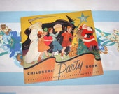 Children's Party Book, 1935 Party planning book