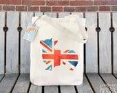 Union Jack Corgi Fair Trade Tote Bag, Reusable Shopper Bag, Cotton Tote, Shopping Bag, Eco Tote Bag
