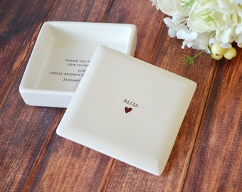 Unique Flower Girl Gift - Square Keepsake Box - With Gift Box