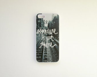 iphone 5 case: adventure is out there
