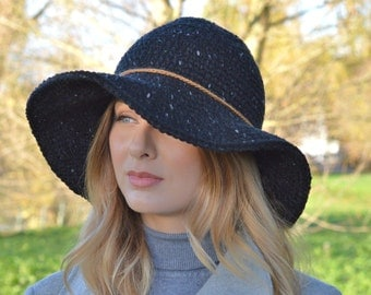 Free Pattern Crochet Wide Brim Hat : Crochet brimmed hat pattern Etsy