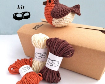 Crochet Stitches Kit : robin crochet kit diy kit bird decoration eco friendly craft kit gift ...