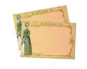 Jane Austen Recipe Cards, Bridal Shower, Regency, Tea Time, Jane Austen Gifts, Vintage Style, Cottage Chic, 4x6 Recipe Cards, Set of 12