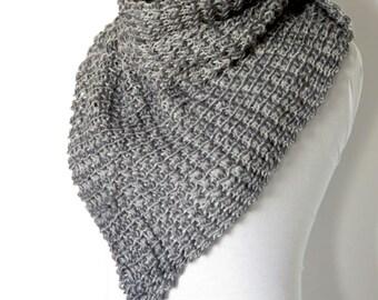 Trends scarf 2015, Grey, machine-knitted shawl, women scarves..Capelet,chunky poncho scarf, pom pom neckwarmer, scarflette...