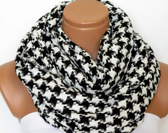 Unisex Scarf, Men Scarf checkered pattern, Men scarf White Black. Men, Man, Guys, Personalized Men Scarf, Scarf For Men,For Fathers,