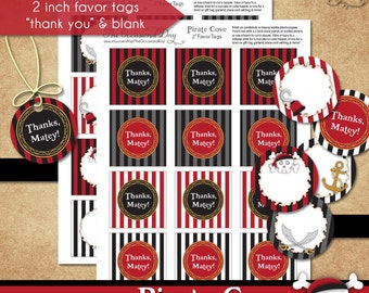 Pirate Cove Favor Tags • PRINTABLE Birthday • Costume • by The Occasional Day
