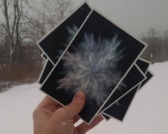 P47 - Snowflake Postcards