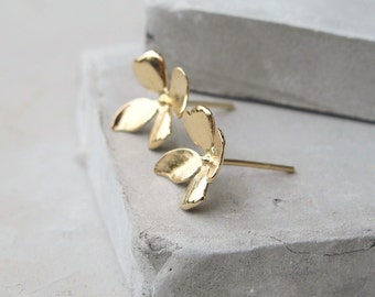 Gold Everyday Earrings - Floral - Everyday Earrings - Gift For Her