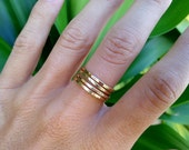 Stackable Rings Sterling Silver 14K Gold Filled, hammered ring, fashion rings, boho ring, stack rings, ring bands, multiple rings