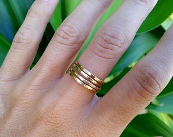 Stackable Rings Sterling Silver 14K Gold Filled