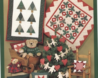 Pattern for Pine Trees Flower Wreath Star Quilts Pillows
