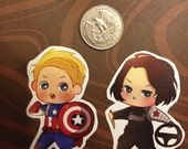 Captain America Winter Soldier Stickers (One Only)