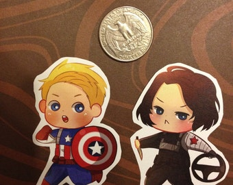 Cap and Bucky Stickers
