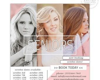 Senior Marketing Template, Senior Marketing Board, Senior Photography Marketing Templates for Photoshop    Charisma - AD171