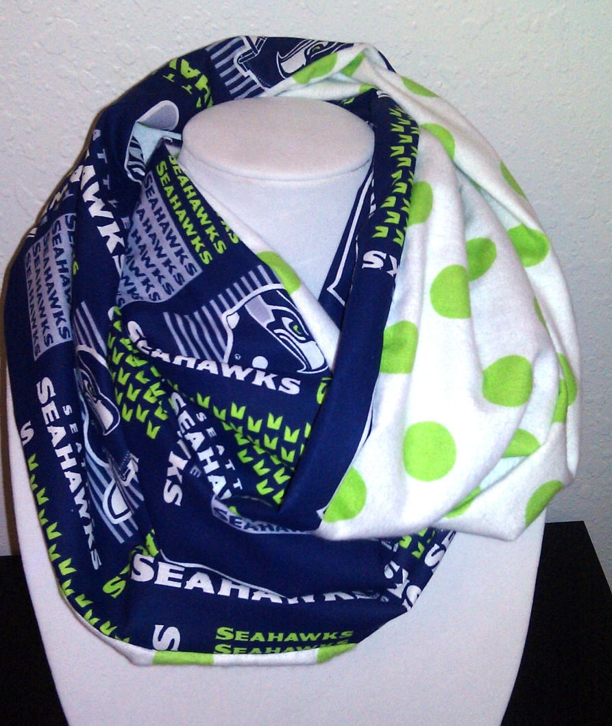 seattle seahawks infinity scarf by tiptophats on etsy