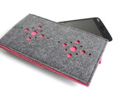iPhone 6S Sleeve/ iPhone 6s Plus Case/ iPhone 4/4S/5/5S/5C Sleeve/ Samsung/ Nexus/ HTC/ One+One- Fusion- Charcoal Grey & NEON Pink