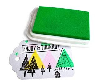Neon Green inkpad - Large - Tsukineko