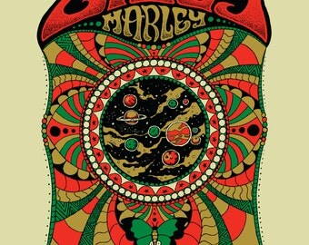 Ziggy Marley Orlando concert poster by Nathaniel Deas