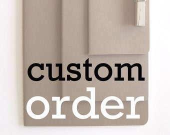 Personalized notebook; Customized notebook; Made to order notebook ; personalized MOLESKINE® notebook;