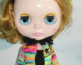 Rainbow Bright & Black Cardigan for Fashion Dolls