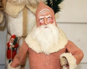 Santa German style candy container in vintage wool 14""