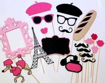 Paris Photobooth Props - Photo Booth Props - Redesigned C'est La Vie Collection