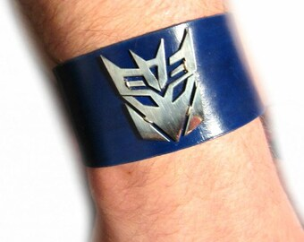 Transformers Leather Cuff Deceptacon OR Autobot
