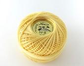 Pale Yellow Finca Perle Cotton Thread