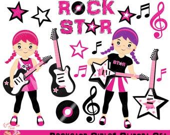 Clip Art Rock Star Clip Art rock star clipart etsy rockstar girls set