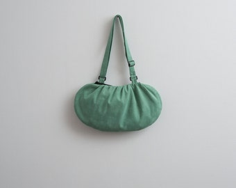 Green Eco Friendly Bag Minimalist Purse Vegan Suede Bag Purse Faux Suede Bag Modern Purse Romantic Bag Gift Ideas For Her Christmas Gift