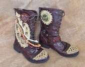 Enchanted Boots - Up-cycled from Reclaimed Materials