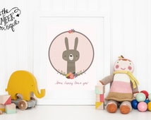 INSTANT DOWNLOAD, Some Bunny Loves You, Printable, No. 332