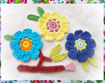 Violeta Flower Set Crochet Pattern