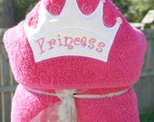 Princess Crown Hooded Towel- Personalized