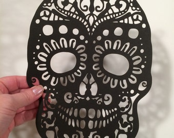 Dia de los Muertos (Day of the Dead), Sugar skull, cut paper art