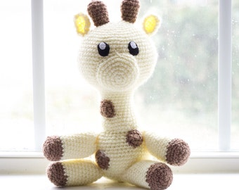 Giraffe Stuffed Animal - Plush Giraffe - Giraffee Plushie - Giraffe Toy - Choose Your Colors - Custom Made Giraffe