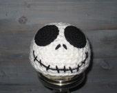 0 to 3 months Jack Skellington Nightmare Before Christmas crochet hat