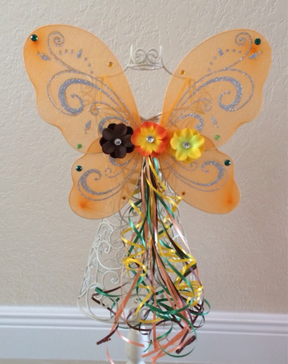 Items similar to Orange Fairy Wings, Orange Fairy, Fawn ...