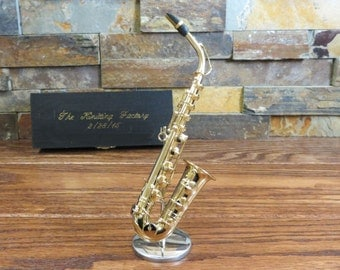 Miniature Saxophone - Gift for Musician - Music (CGSA)