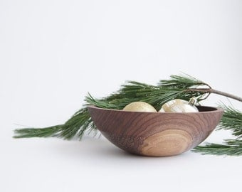 "Wooden Bowl 10"", Natural Sparkle,  Walnut Wood, Kitchen Decor"