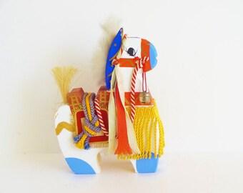 Antique Yawata-Uma Hachiman Aomoro Japanese Wood Horse Toy