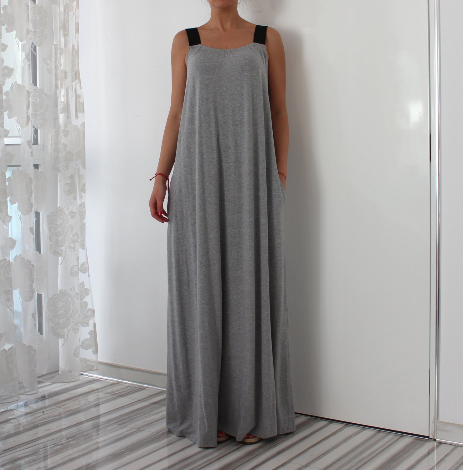 A line dress/ Maxi dress/ Long Maxi dress/ Casual dress/