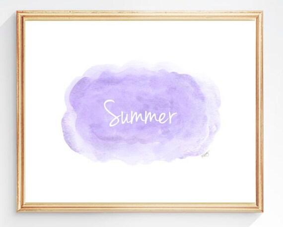 Lavender Clouds Nursery Art, 8x10 Personalized Print