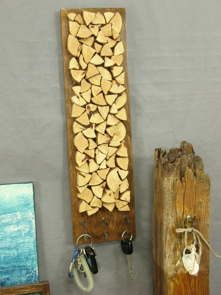 Modern Rustic Wall Decor : Rustic wall decor key holder modern cedar