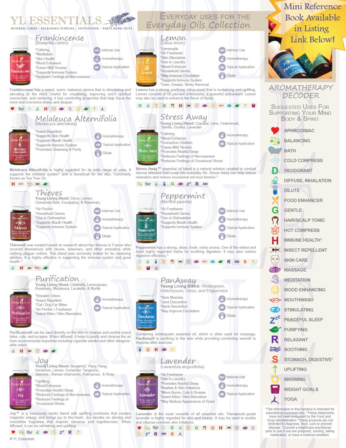 UPDATED Printable Young Living Classes/Party by YLEssentials