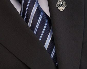 Poodle brooch - sterling silver.