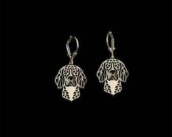 Beagle earrings - Gold